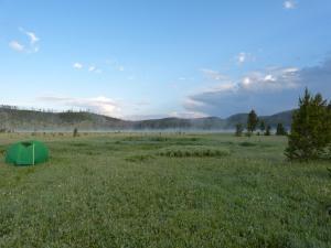 morning mist at Wolf Lake
